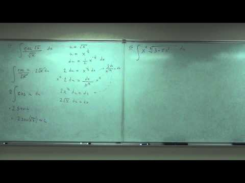Calculus 1 Lecture 4.2:  Integration by Substitution