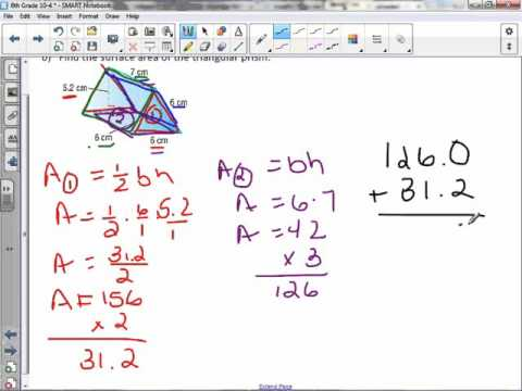 6th Grade 10-4: Surface Area of Triangular Prisms