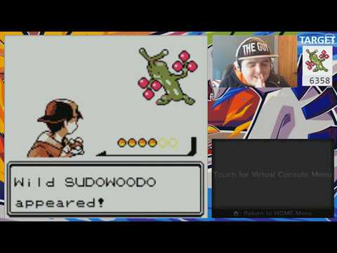 LIVE! Shiny Sudowoodo on Gen II Silver after 6,358 SR's! (Virtual Console)
