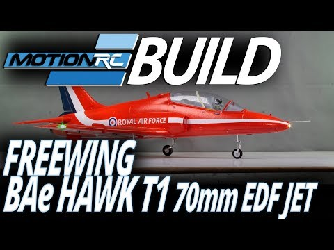 Freewing BAe Hawk T1 70mm EDF Jet - Build Video - MotionRC