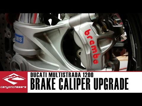 How to install upgraded Brembo M50 brake calipers on a Ducati Multistrada 1200