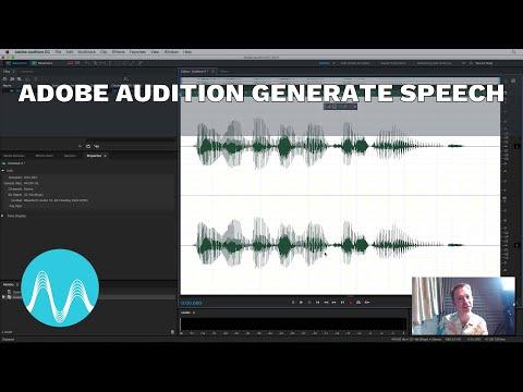 Adobe Audition Generate Speech