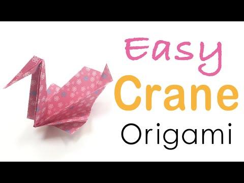 Easy☺︎Origami Paper Crane Tutorial - Origami Kawaii〔#058〕