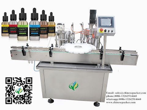 E-cigarette Liquid Bottling Equipment With Dropper Automatic E juice Filling And Capping Machine