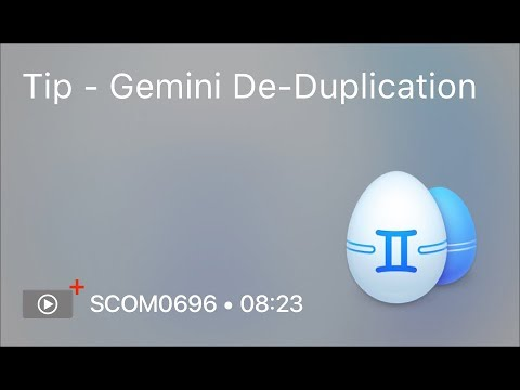 SCOM0696 - Tip - Gemini De-Duplication