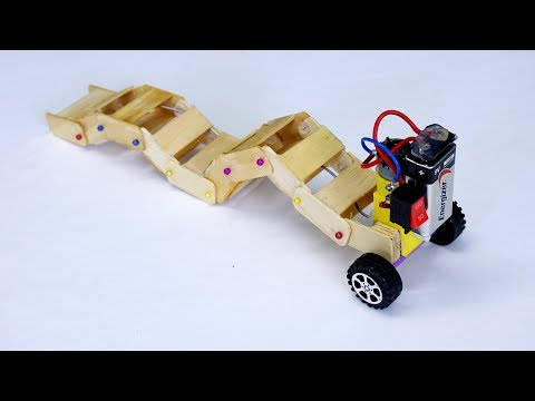 How to make a Robot Snake with DC Motor