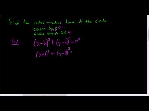 Finding the Equation of the Circle given the Center and a Point