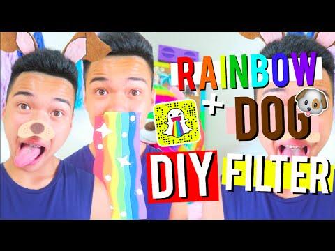 DIY TRENDY Snapchat Filters! Dog & Rainbow Filter! | PurpleKevin