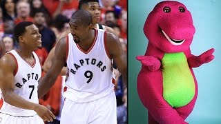 Bucks TROLL Raptors with Barney Theme Song During Introductions
