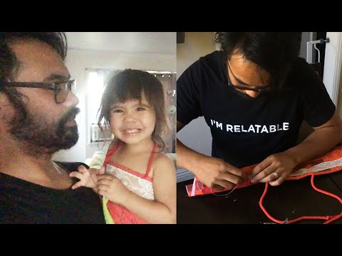 Dad Makes His Daughter A Moana Costume For Halloween