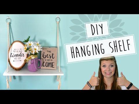 DIY // Rope Hanging Wall Shelf Tutorial
