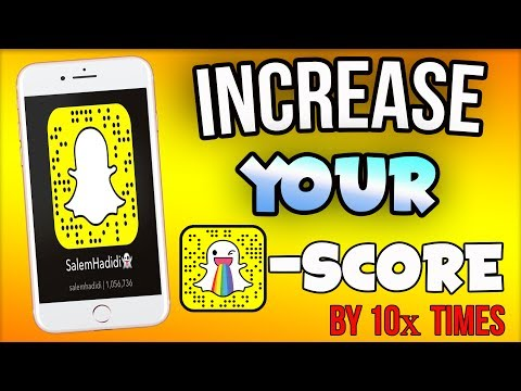 How To INCREASE SNAPCHAT SCORE FAST! *2017 NEW HACK* (Increase Snap Score FAST) No Computer ios 11