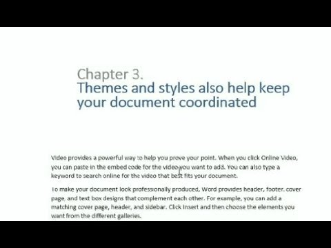 MS Word:The chapter heading in multiple lines and two colours
