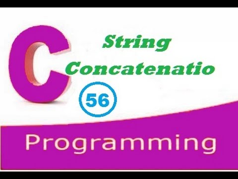 C programming video tutorial - string concatenation