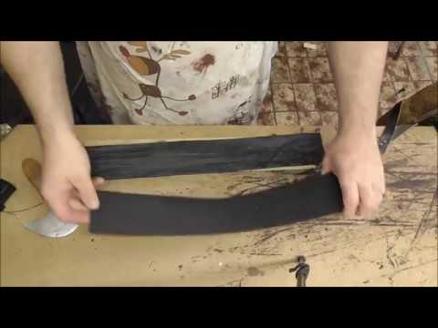 How I make a  buff stick for sharpening my tools
