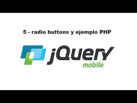 Curso de jQuery Mobile 5 - radio buttons y ejemplo PHP
