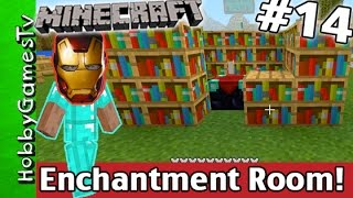 Minecraft IRONMAN Mask ENCHANTMENT Room Tutorial Xbox One HobbyGamesTV
