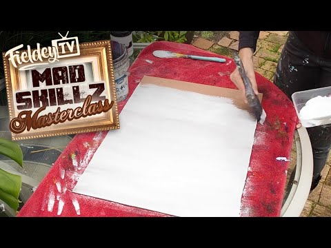 How to prepare wood and canvas to paint using gesso | MSM 16