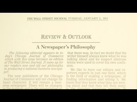 WSJ 125th - Opinion