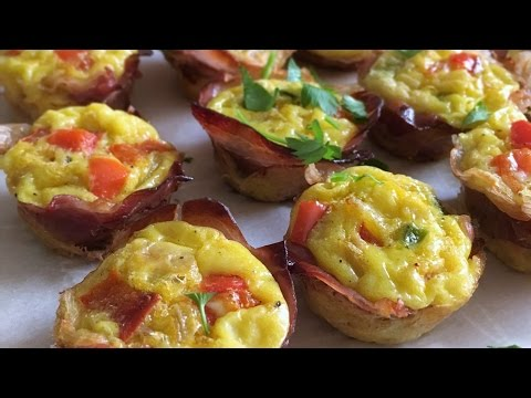 Prosciutto Wrapped Mini Frittatas