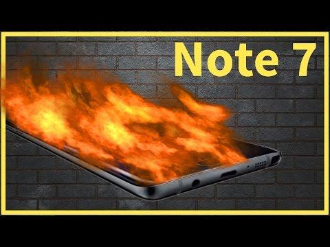Note 7 Smartphones Explode - Global Recall & Sales Halt