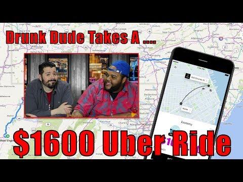 Drunk Man Takes $1600 Uber Ride!