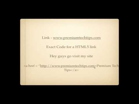 HTML5 Tutorial - How To Create A Link With HTML5