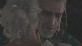 Little Ciri and Geralt in Kaer Morhen: Young Lady in Trainin