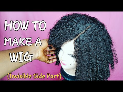 DIY How To || Make Your Own Closure || Invisible Side Part Wig