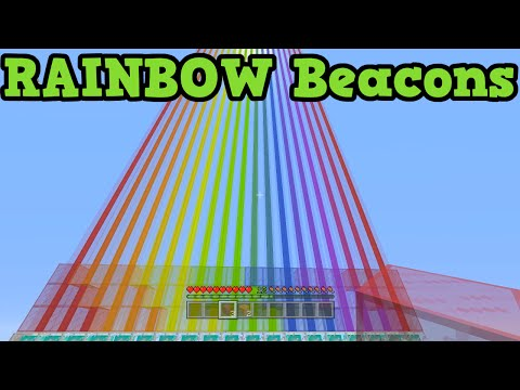 Minecraft Xbox 360 + PS3 - TU25 RAINBOW BEACON Build Guide