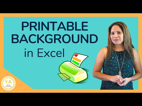 How to Add a Printable Background Picture in Excel - Tutorial