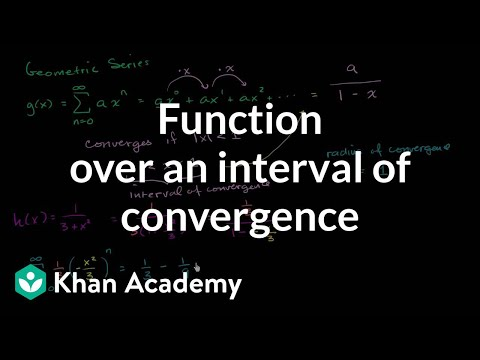 Geometric series interval of convergence | Series | AP Calculus BC | Khan Academy