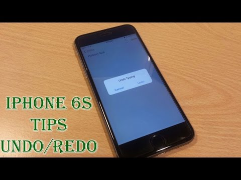 iPhone 6S tips - Shake to Undo/Redo and Disable