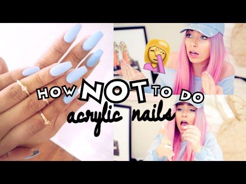 How NOT to do ACRYLIC NAILS | MAJOR FAIL