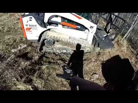 How to Get a 12,000 Lb Skidsteer Unstuck From Mud -SOLO!