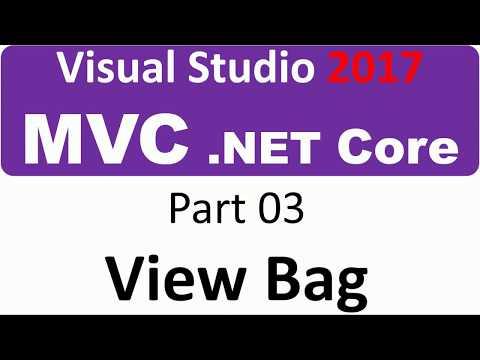 Visual Studio 2017 - MVC Core - Part 03 - data between pages ViewBag