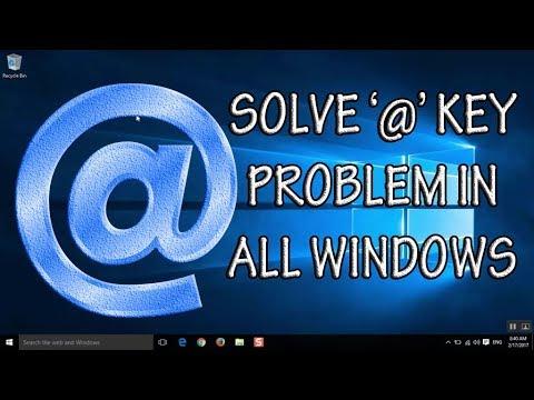 Keyboard Problem. '@' at key (Shift 2) on Keyboard not working | Typing