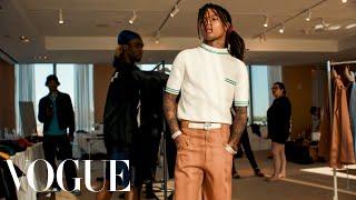Behind Swae Lee's Backwards Polo Shirt CFDA Awards Look | Vogue