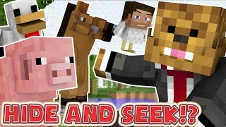 THE CUTEST HIDE AND SEEK AT THE ZOO EVER!! - Minecraft Hide N
