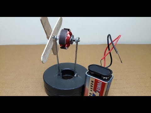 Free Energy Fan Without DC Motor  Magnet Energy