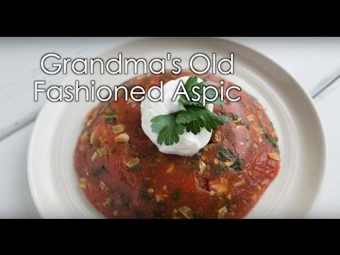 Grandma's Old Fashioned Aspic