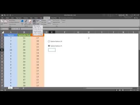 Configuring Form Control Option Buttons in Excel