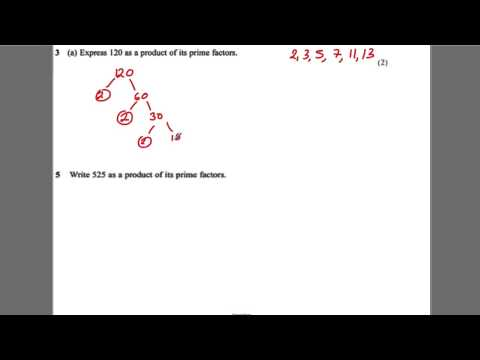 GCSE Revision Video 15 - Product of Prime Factors