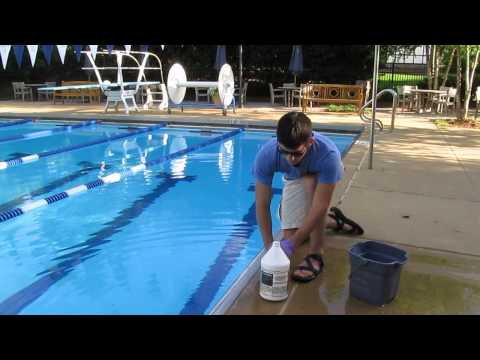 How to add muriatic acid to pools safely and without fumes.