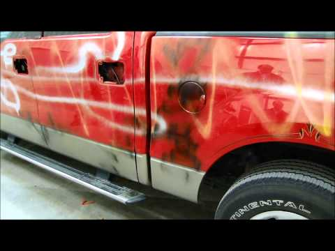 How to remove vandalism spray paint overspray