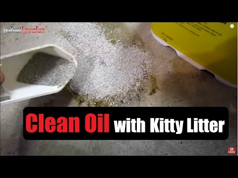 How to clean up a motor oil spill off the floor
