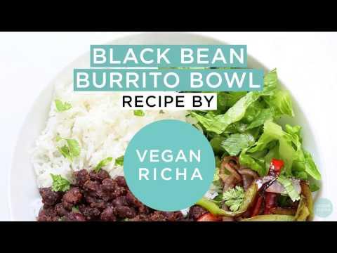 Easy Black Bean Burrito Bowl - Chipotle Style - VeganRicha.com