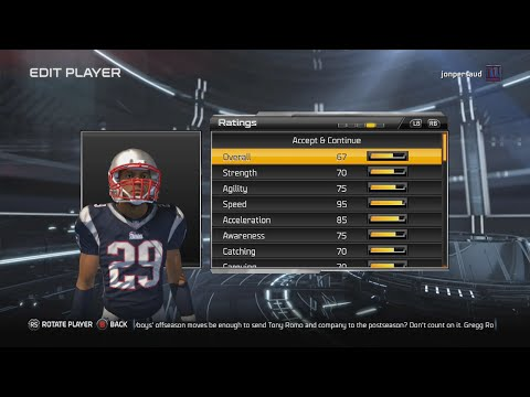 Madden 15 Connected Careers Gameplay - The Creation of Patriots HB Drew Payne Episode 1 Speed HB