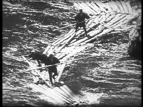 Japan: prewar timber transport by river rafts