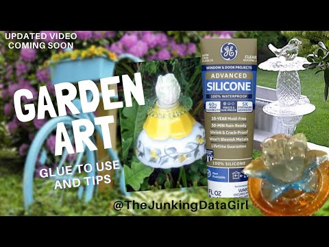 How to make glass garden art with glue